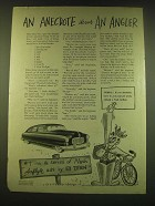 1949 Nash Airflyte Car Ad - An Anecdote about an Angler