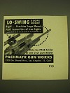 1949 Pachmayr Gun Works Ad - Lo-swing Scope Mount