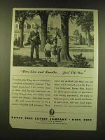 1947 Davey Tree Expert Company Ad - Trees live and breathe… just like you