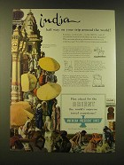1947 American President Lines Ad - India half way on your trip around the world