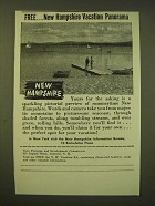 1947 New Hampshire Tourism Ad