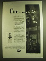 1939 Capital Stock Company Insurance Ad - Fire.. On schedule