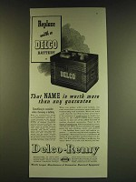 1939 Delco-Remy Battery Ad - Replace with a Delco Battery