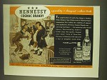 1939 Hennessy Cognac Brandy Ad - quality bouquet clean taste
