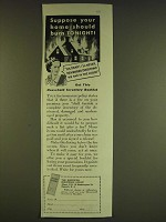 1939 American Insurance Group Ad - Suppose your home should burn tonight