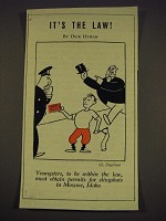 1939 Cartoon by O. Soglow - Youngsters, to be within the law