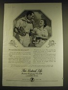 1938 The Mutual Life Insurance Company of New York Ad - Forward flows the tide