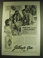 1938 Gilbey's Gin Ad - The world's great drinks begin with Gilbey's