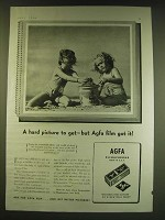 1938 Agfa Film Ad - A hard picture to get - but Agfa film got it