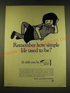 1967 Kotex Tampons Ad - Remember how simple life used to be?