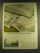 1966 Cannon Majestic Rose Sheet Ad - Come close. Touch the luxury of Cannon