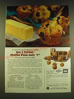 1966 American Dairy Association Ad - Butter Muffin Mix and Blueberry Muffins