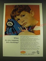 1966 Tonka Toys Ad - What do you suppose he's thinking?
