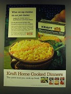 1966 Kraft Macaroni & Cheese Deluxe Dinner Ad - When we say cheddar