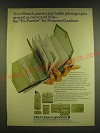 1966 Princess Gardner Tri-Partite French Purse Ad - Holds Photographs