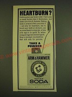 1966 Arm & Hammer Baking Soda Ad - Heartburn?