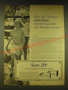 1964 Kotex Kotams Tampon Ad - Have fun! You have extra hours of protection