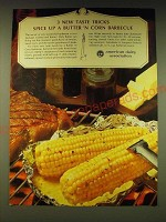 1964 American Dairy Association Ad - spice up a butter 'n corn Barbecue