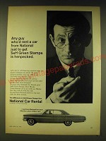 1964 National Car Rental Ad - Any guy who'd rent a car