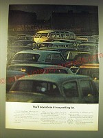 1964 Volkswagen VW Bus Ad - You'll never lose it in a parking lot