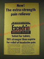 1964 Bristol Myers Excedrin Ad - New! The extra-strength pain reliever
