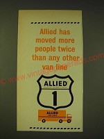 1964 Allied Van Lines Ad - Allied has moved more people twice than any other
