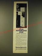 1963 Shaw-Walker Automatic File cabinet Ad - New Automatic File speeds work