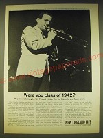 1963 New England Life Insurance Ad - Glenn Miller - Were you class of 1942?