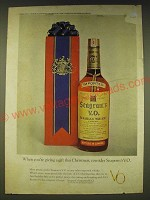 1963 Seagram's VO Whisky Ad - When you're giving a gift this Christmas