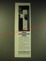 1963 Shaw-Walker Automatic File cabinet Ad - Speeds Work Saves Floor Space