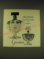 1963 Guerlain Shalimar Perfume Ad - international symbol of elegance