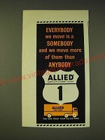 1963 Allied Van Lines Ad - Everybody we move is a somebody
