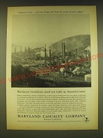 1962 Maryland Casualty Company Ad - Machinery breakdown need not build up