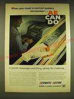 1962 GT&E Automatic Electric Message Center Control System Ad - When you need