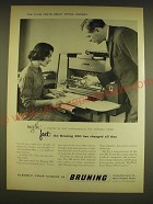 1962 Bruning 280 copier Ad - The plain facts about office copiers