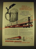 1960 Western Pacific Railroad Ad - Cold and controlled another example