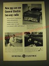 1960 General Electric two-way radios Ad - Now you can use General Electric