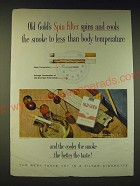 1960 Old Gold Cigarettes Ad - Old Gold's spin filter spins and cools the smoke