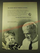 1960 Bankers Trust Company Ad - The human side of pension planning