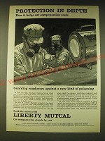 1960 Liberty Mutual Insurance Ad - Protection in depth