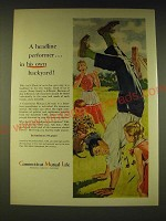 1960 Connecticut Mutual Life Insurance Ad - art by Bama - A headline performer