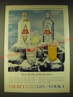 1960 Gilbey's Gin Ad - Twin Peaks of Perfection