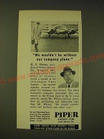1960 Piper Apache Airplane Ad - We wouldn't be without our company plane