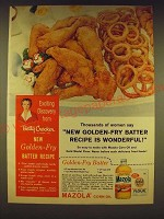 1958 Mazola Corn Oil and Gold Medal Four Ad - Golden-Fry Batter recipe