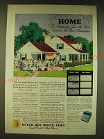 1936 Dutch Boy White-Lead Paint Ad - Home the place you love the best deserves