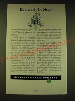 1936 Bethlehem Steel Company Ad - Research in Steel