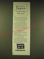 1936 American Mail Line Ad - From Seattle Japan 32-day Cruise $360 complete