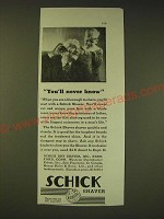 1936 Schick Shaver Ad - You'll never know