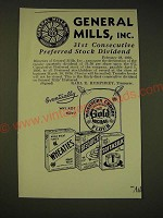 1936 General Mills Ad - General Mills, inc. 31st consecutive preferred stock