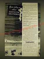 1935 Southern California Ad - You're telling us about Southern California
